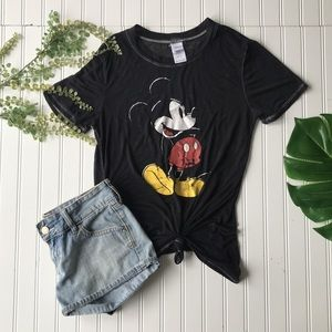 Disney Mickey Mouse black graphic top Lightweight